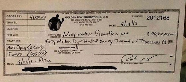 Here's What A $40 Million Check Looks Like
