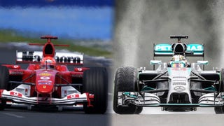 F1 cars are 8 seconds slower than 10 years ago.