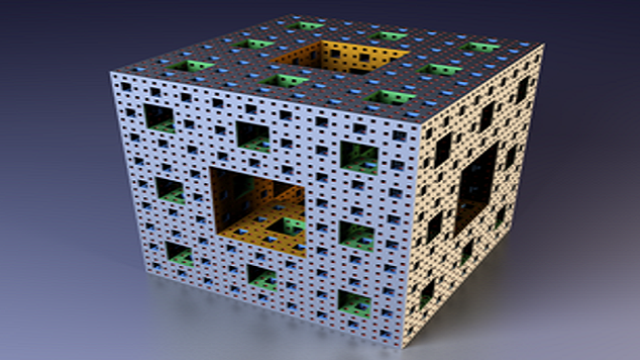 The Menger Sponge literally straddles the line between different dimensions