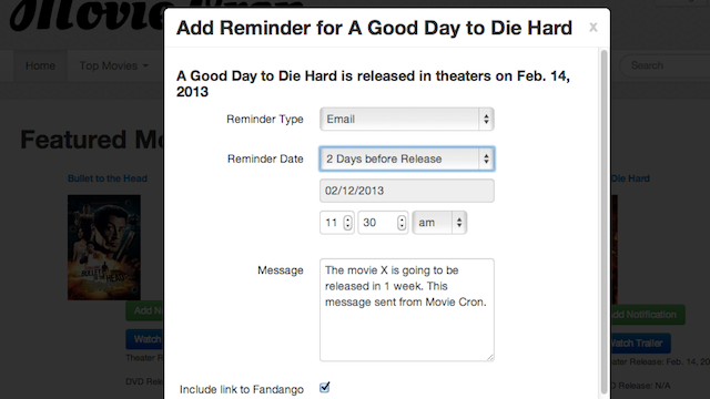 Movie Cron Plays Film Trailers, Notifies You by Text or Email Before Premiere Day