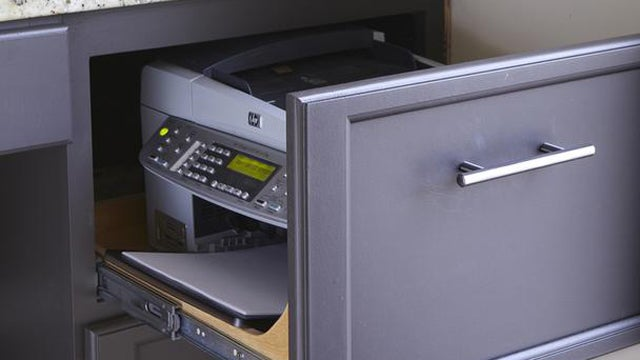 Hide Your Printer in a Desk Drawer or File Cabinet