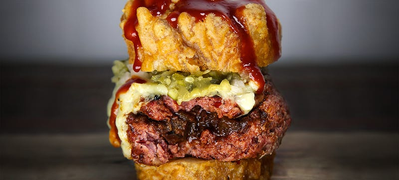 The Spread Eagle burger looks so yummy it makes me spread my mouth wide