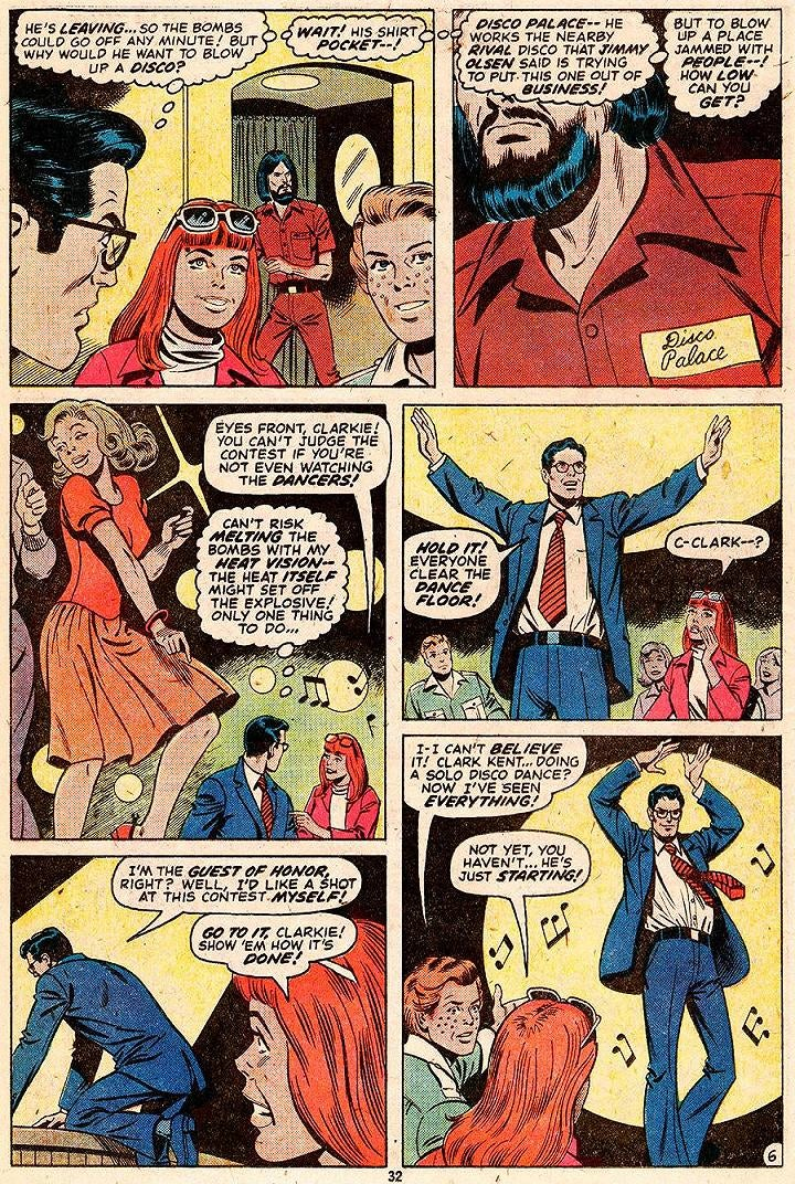 Remember when Superman disarmed a bomb by disco dancing?