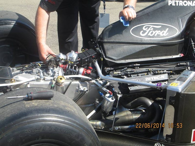 Niki's car on the back