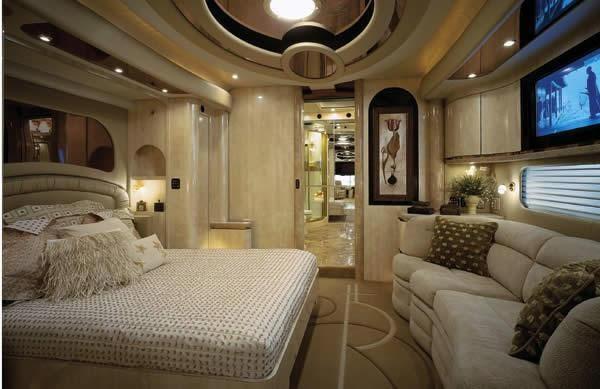 Luxury Caravan Has Sports Car Parking Dock In Its Belly