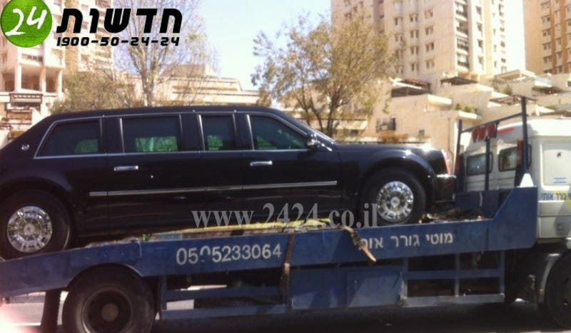 President Obama's Limo Breaks Down In Israel After Being Filled With Gas By Mistake