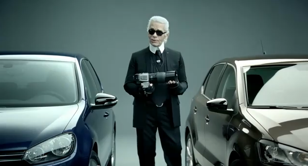 Karl Lagerfeld Has Stooped to Shilling for Volkswagen on German TV