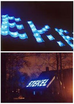 Interactive LED Roof Tiles Great For Advertising, Talking Smack About Neighbors