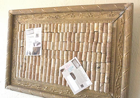 Make a bulletin board from wine corks for Making a cork board from wine corks