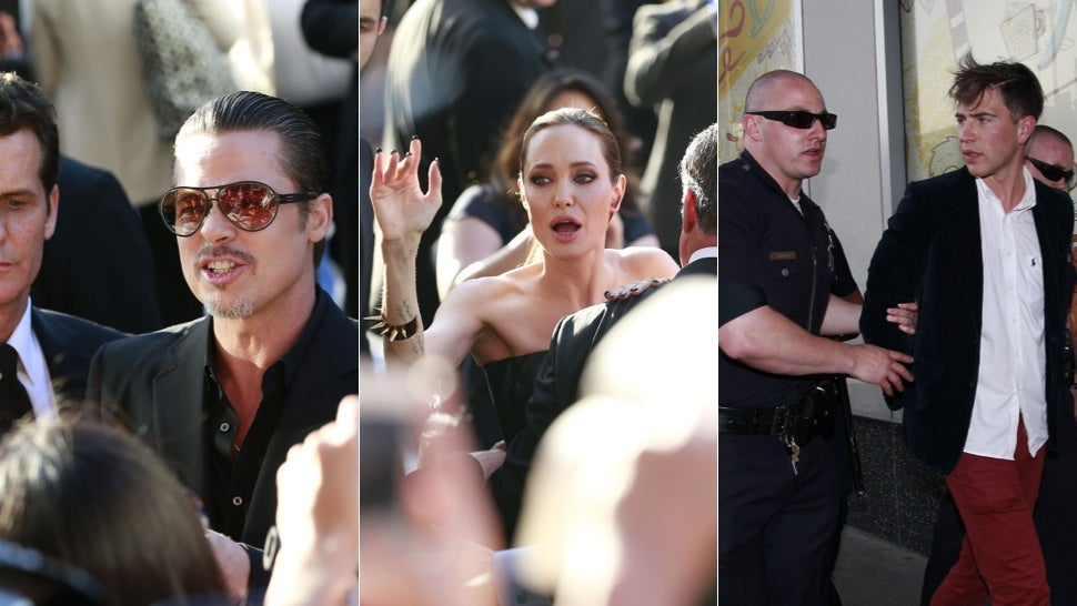 Horrible 'Prankster' Attacks Brad Pitt at Maleficent Premiere