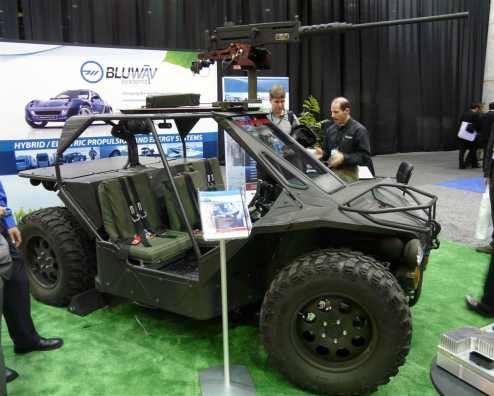 Raytheon HY-DRA Shows Off In-Wheel E-Motors