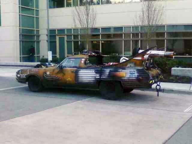 Kooky Oldsmobile Art Car Spotted Outside Microsoft Research Center