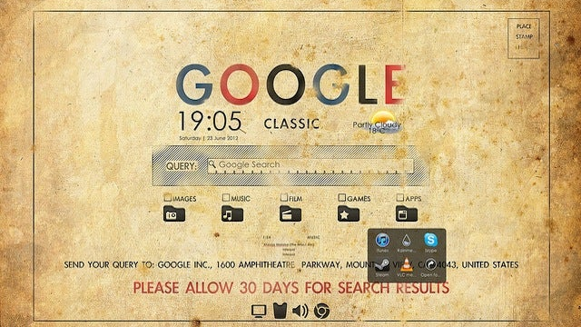 The Retro Google Desktop