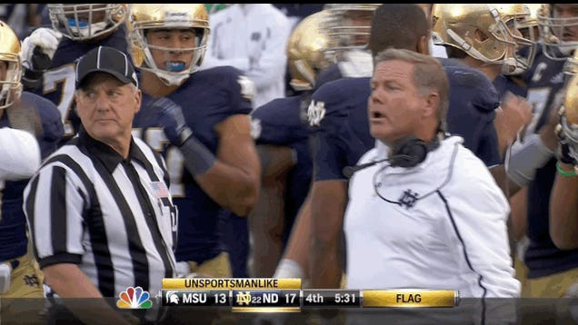 Brian Kelly Is Upset