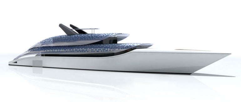 A Yacht Inspired by Zebras Lacks Stripes (and the Glisten of Water On its Belly)