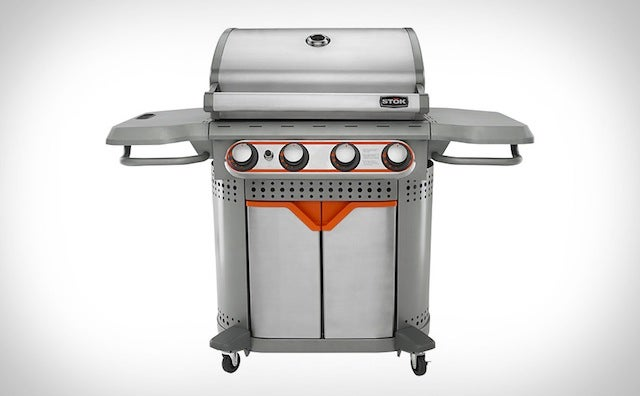 This Handsome Grill Has Interchangeable Inserts For Added Versatility