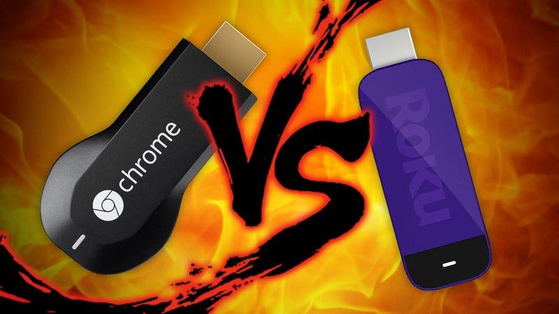 Streaming Stick Faceoff: Roku vs. Chromecast