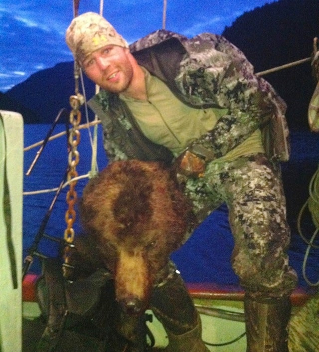 Dipshit Hockey Player Murders Grizzly Bear For Sport