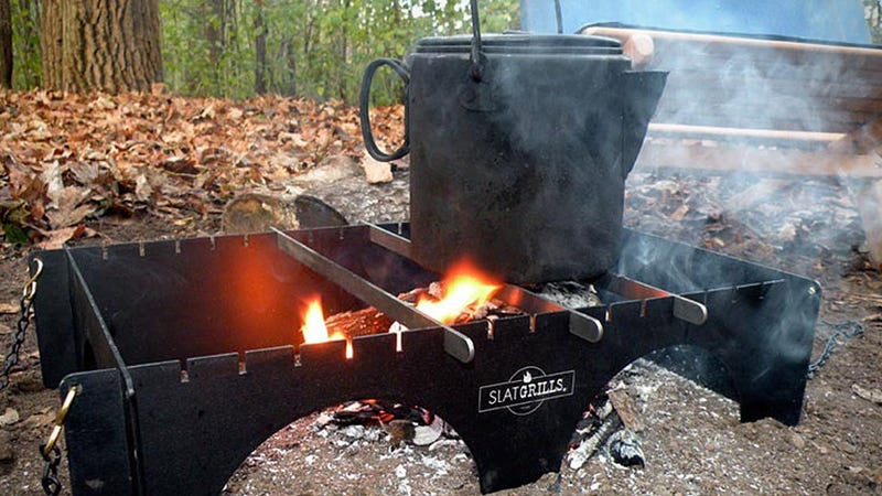 The SlatGrill Is a Rearrangeable Range for Backwoods Gourmets