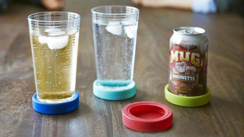 Coasters That Stick To Glasses Protect Every Surface in Your Home