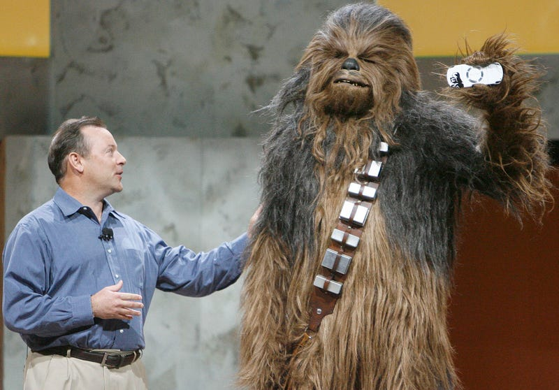 Gaming's Top Men (And A Wookiee Posing With Gaming's Newest Hardware)