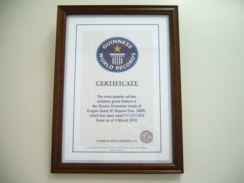 Dragon Quest IX Enters The Guinness Book of World Records