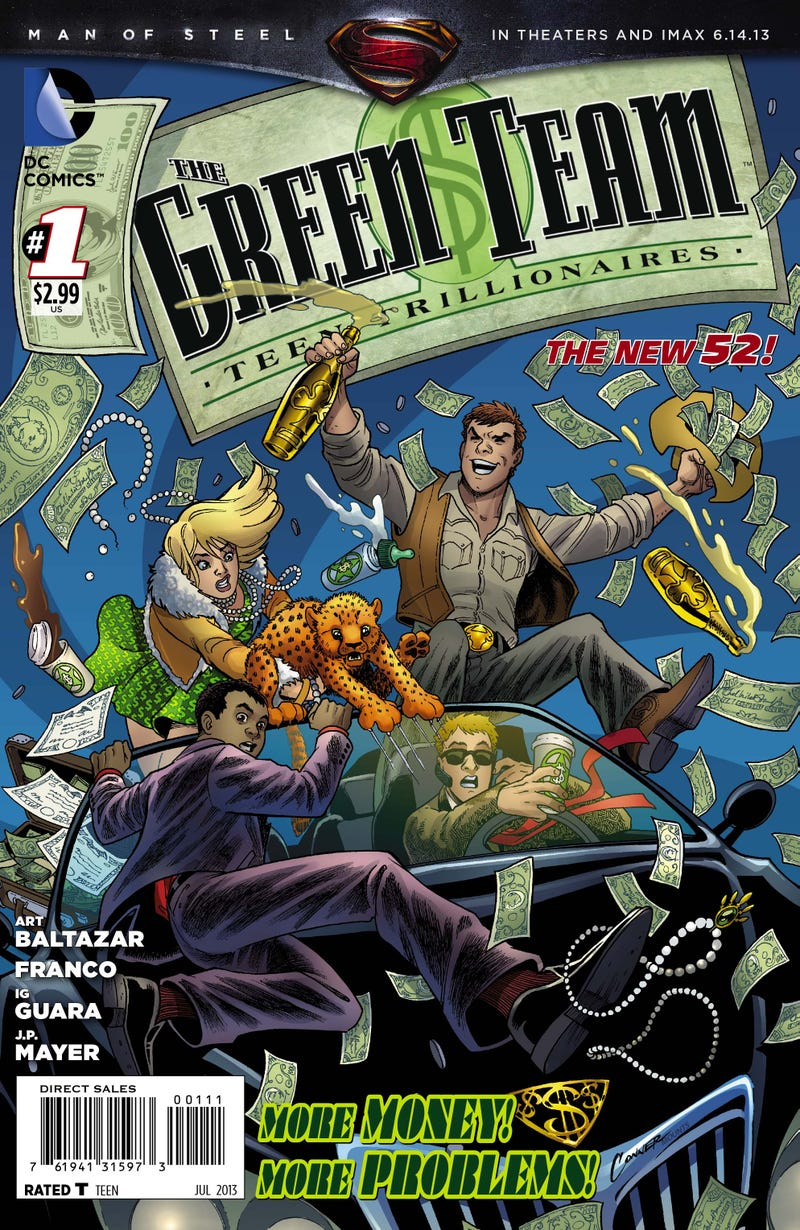 Teen trillionaires have problems too in this preview of Green Team #1