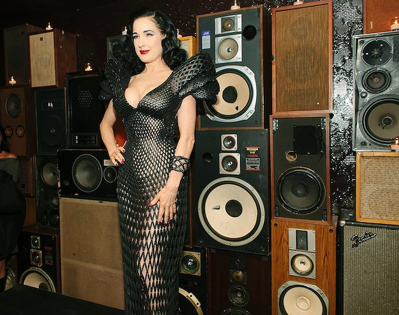 Dita Von Teese Flaunts the First 3D-Printed Dress You Might Actually Own Someday