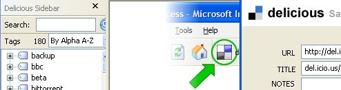 Del.icio.us Bookmarks Plug-In Now Available for Internet Explorer