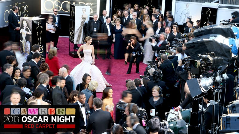 Jennifer Lawrence Did a Shot Before Going Into the Oscars Press Room and Here's the Result