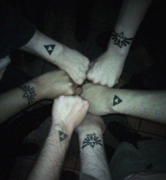 The Fellowship Of The Zelda Tattoos