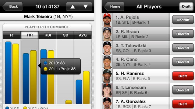 Draft Kit 2011 App Makes Fantasy Baseball Real Easy