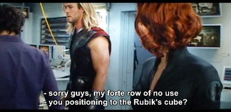 Poorly translated subtitles from a Chinese bootleg of The Avengers are amazing