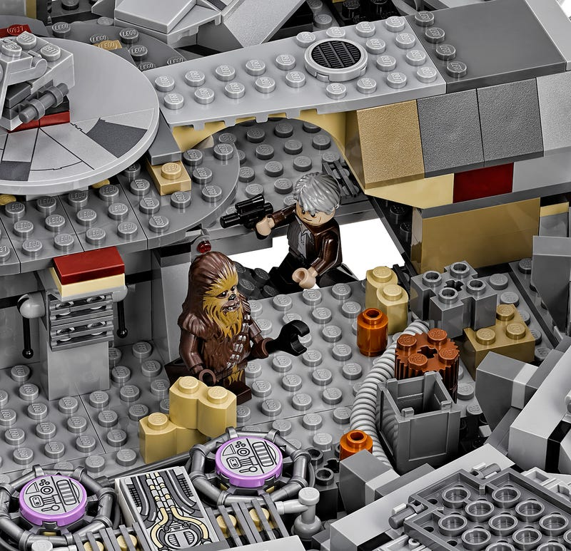 Lego has officially revealed its star wars the force for Interieur faucon millenium