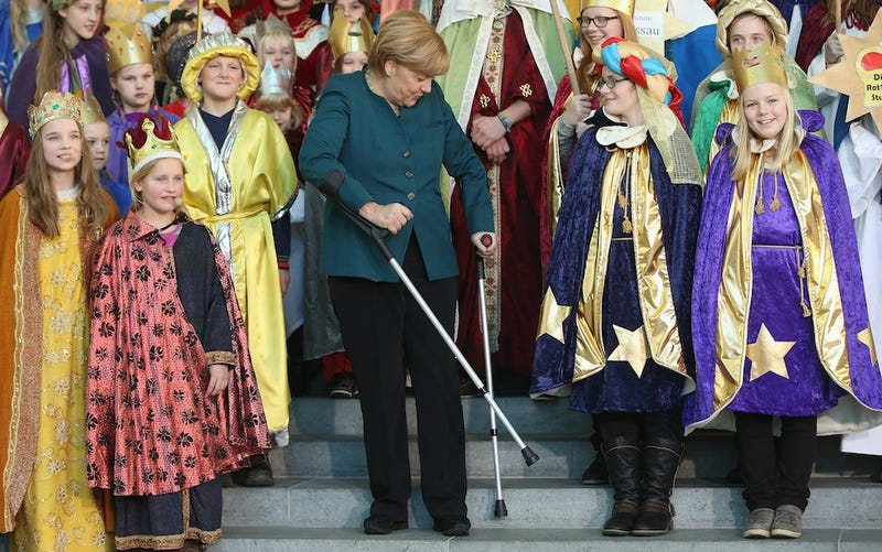 Angela Merkel Is Up and At 'Em