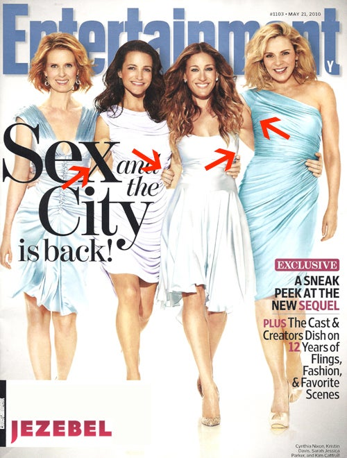 More Photoshop Weirdness For The Sex And The City Ladies