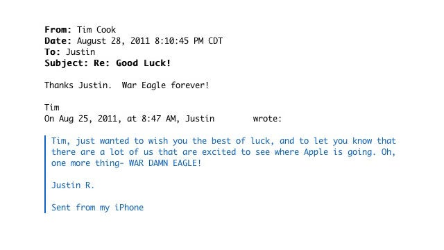 Tim Cook's Battle Cry Email (Updated)