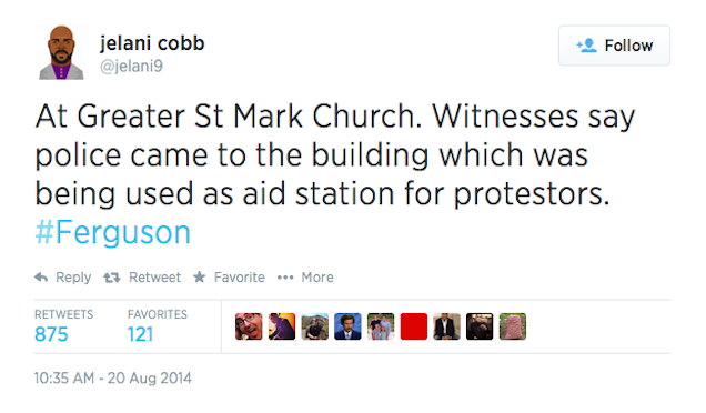 Reports: Aid Station Adjacent to Church Raided by Police in Ferguson