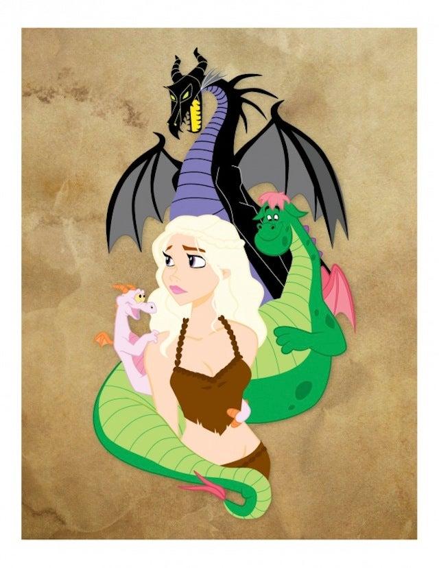 The Adorable Disney Version Of Game of Thrones' Dragon Queen
