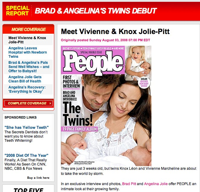 Angelina & Brad's Twins: Revealed!!!