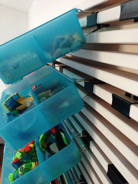Create a Storage Wall for Your Vast Lego Collection or Other Small Items