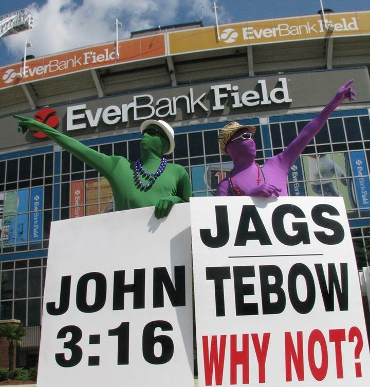 "Jaguars Fans Will Hold A ""Sign Tim Tebow"" Rally At 3:16 P.M."