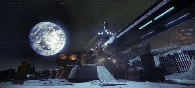 The sci-fi landscapes of Destiny