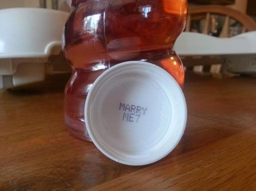 Bloke buys girlfriend a Sobe (whatever that is)... she says YES.
