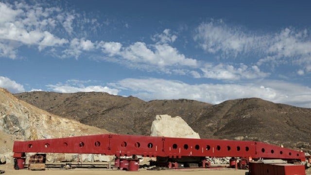 How does one drive a 340-ton boulder into Los Angeles?