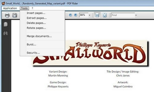 PDF Rider Extracts, Merges, and Decrypts PDF Files