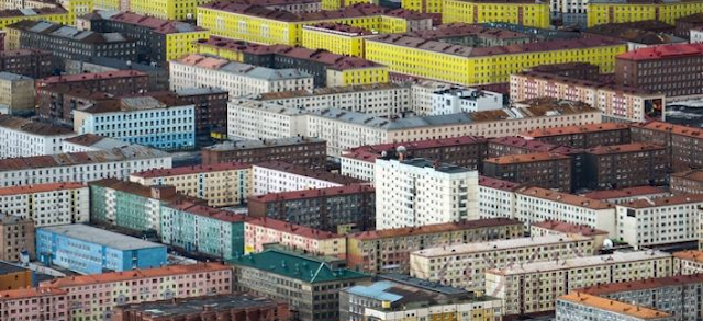 The World's Northernmost City Is a Candy-Colored Dreamscape From Above