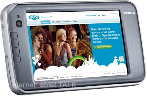 Nokia N810 Internet Tablet Shots Surface and Whoa, It's Sexy
