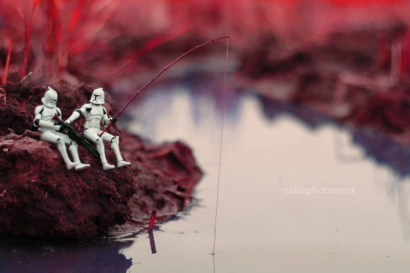 The calm life of stormtroopers when they weren't missing targets