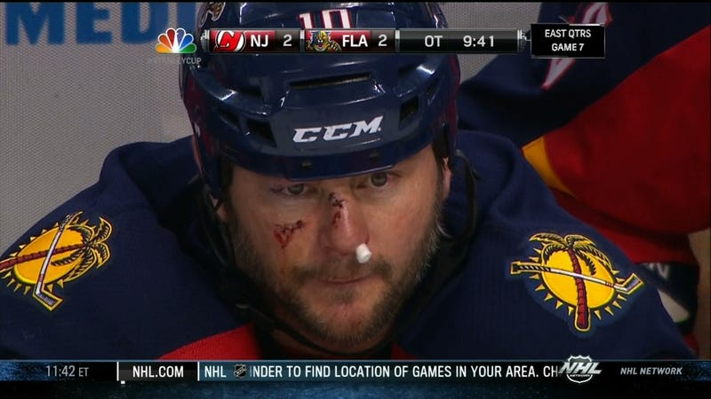 This Is The Face Of A Hockey Player
